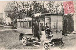 Boëge Carte Rare Départ De L'automobile écrite, Circulée En1906 Trés Bon état, Une Des Plus Recherchée De Haute Savoie - Boëge