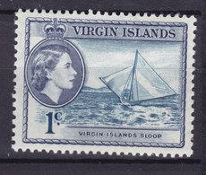 British Virgin Islands 1956 Mi. 112     1 C. Queen Elizabeth II & Virgin Islands Sloop MH* - Iles Vièrges Britanniques