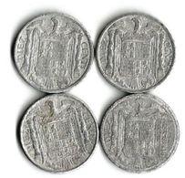 Lot 4 Pièces De Monnaie 10 Centimos - [ 4] 1939-1947 : Nationalist Government
