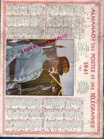 GUERRE 1939-1945- WW 2- RARE CALENDRIER MARECHAL PETAIN  1941- CARTE 87- HAUTE VIENNE-LIMOGES-SAINT JUNIEN-ROCHECHOUART- - Calendriers