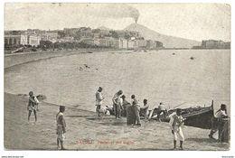 NAPOLI - PESCATORI NEL GOLFO - Viaggiata 1914 - Animata - Napoli (Naples)