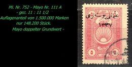 TURKEY , EARLY OTTOMAN SPECIALIZED FOR SPECIALIST, SEE...Mi. Nr. 752 - Mayo 111 A - Gez. 11 : 11 1/2 - 1920-21 Anatolia
