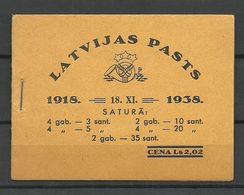 LETTLAND Latvia 1938 Markenheftschen Complete Booklet MNH - Lettland
