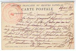JOURNEE  FRANCAISE  DU  SECOURS  NATIONAL  + TAMPON MILITARIA CROIX ROUGE     TBE - Croce Rossa