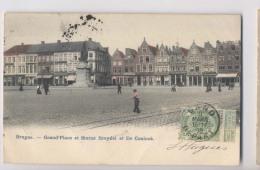 Bruges - 1906 - Grand Place Et Statue Breydel Et De Coninck - Colorisée - Animée - Brugge