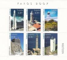 2007,  Spanien, 4248/53 Block 163,  Leuchttürme,  MNH ** - 2001-10 Unused Stamps