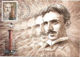 Serbia 2016. Nikola Tesla 125 Years Of Th Tesla`s Transformator Patent Maximum Card MC - Serbia