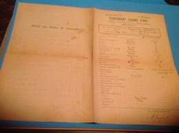 Pensionnat Jeanne D Arc Château D Athesans Haute Saône Bulletin Scolaire 1926 1927 - Diplômes & Bulletins Scolaires