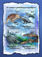 CENTRAL AFRICA 2018 MNH** Prehistoric Water Animals Wassersaurier Animaux Prehistoriques M/S - OFFICIAL ISSUE - DH1807 - Prehistorics