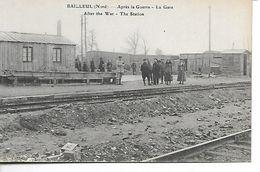 Bailleul. Après La Guerre. La Gare. - France