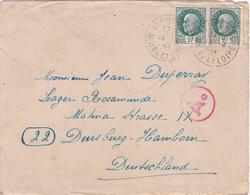 COURRIER Lettre ALLEMAGNE Duisburg Hamborn 13 Avril 1944 PETAIN 3° Reich WW2 - Duperray Allonnes Cachet Ae - Duitsland