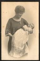 Photo Ancien / Foto / Photograph / 1924 / Bébé / Baby / Mother / Mère / Photographer / England - Photographie