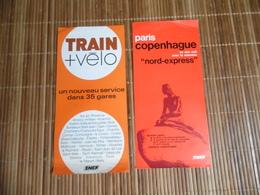 Anciennes Publicité De La S.N.C.F. De 1974 - 1975 - Railway