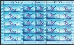 Armenien/Armenie/Armenia/Artsakh/Karabakh 2018, PyengChang XXIII Winter Olympic Games, Skiing 3 Sheets - MNH ** - Armenia