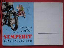 Werbekarte Für Semperit QualitätsReifen Für Roller Und Motorrad - Moto
