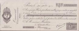 MANDAT PIGIER  1935 OSMONT COMMISSIONNAIRE PARIS  VOIR PHOTO - Revenue Stamps