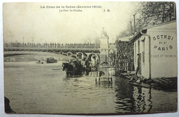 LE PORT St NICOLAS. - LA CRUE DE LA SEINE JANVIER 1910 - PARIS - Arrondissement: 01