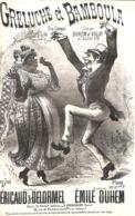 Greluche Et Bamboula. Duo Comique. Partition Ancienne, Petit  Format, Couverture Illustrée Butscha. - Partitions Musicales Anciennes