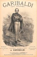 Garibaldi, Chant Patriotique. Partition Ancienne, Petit  Format, Couverture Illustrée Ancourt - Partitions Musicales Anciennes