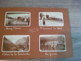 ALBUM PHOTO DE FAMILLE CHAMONIX SUISSE ALPES MONTAGNE GLACIER PAYSAGES CAFE LOCOMOTIVE AUTOMOBILE ETC... - Places