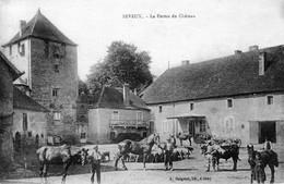 SEVEUX (Haute-Saône) - La Ferme Du Château. Edition Bergeret. Circulée En 1917. Bon état. - Francia