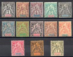 GUADELOUPE - YT N° 27 à 39 - Neufs * - MH Sauf 32 Obl - Cote 229,00 € - Guadeloupe (1884-1947)