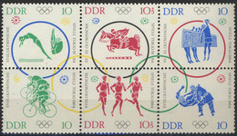 // JO 1964 - DDR 742 - 747** - Summer 1964: Tokyo