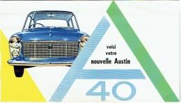 Publicité Automobile. Austin 40. Old Car. - Publicités
