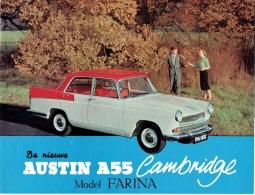 Publicité Automobile. Austin A55 Cambridge, Modèle Farina. Old Car. - Advertising