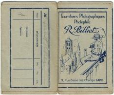 Foto/Photo. Pochette Illustrateur. Gand. Fournitures Photographiques Billiet. - Supplies And Equipment