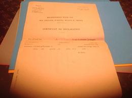 Loi 1877 Décret 1877 Recensement Pour 192 Des Chevaux Jument Mulets Et Mules Certificat De Déclaration Le Maire - Decrees & Laws
