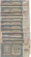 Croatia WWII NDH 9300 Kunas (13 X 100 + 8 X 1000 Kuna) Banknotes B180201 - Croatia