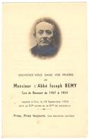 52 NONCOURT - Carte Souvenir Deces De L'abbé Joseph REMY Curé De Noncourt - Haute Marne - France