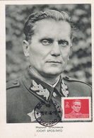 Carte-Maximum YOUGOSLAVIE N° Yvert 425 (TITO) Obl Sp 1946 Belgrade - Cartoline Maximum