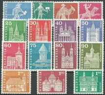 SCHWEIZ 1960 Mi-Nr. Freimarken LOT 8,70 Sfr Alle Werte Y ** MNH - Suisse