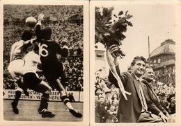 2 Images Vogelsang-Tabak - Bild N° 41 & 78 - Football-Weltmeisterschaft - 1954 - Die Heimreise - Deutschland/Österreich - Cigarette Cards