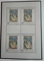 Tchécoslovaquie 1968  Painting ALFONS MUCHA   Block  4 Stamps - Neuf Avec Gomme Originale - MUH - Ungebraucht