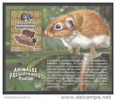 PERU, 2013, MNH, RODENTS, FOSSILS, PREHISTORIC ANIMALS, S/SHEET, - Rodents