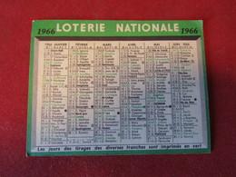 Calendrier De Poche 1966 Loterie Nationale Format 10,5 X 8 Cm - Calendars