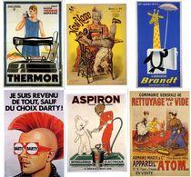 PUBLICITE SAVIGNAC MORVAN VINCENT STALL FAVRE DUBOUT RENO   18 CARTES  EDITIONS BIBLIOTHEQUE FORNEY 1994 - Werbepostkarten