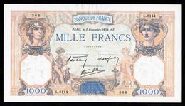 1000F Cérès Et Mercure  02.11.1939 - SUP à SPL - Fay : 38.38 - 1871-1952 Circulated During XXth