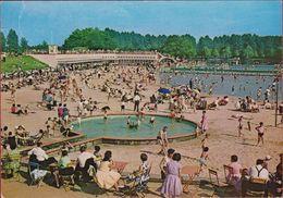 Grote Kaart Grand Format Diest Badplaats Halvemaan Plage Swimming Pool Freibad 1967 - Diest