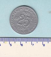 Monnaie Necessité Toulouse (31) Haute Garonne .. 25c Union Latine 1922-27 - Monetary / Of Necessity