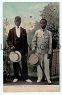 SÃO TOMÉ E PRÍNCIPE - COSTUMES - Costumes Dos Cabindas Em S. Thomé.( Ed. António Joaquim Brás)  Carte Postale - Sao Tome And Principe