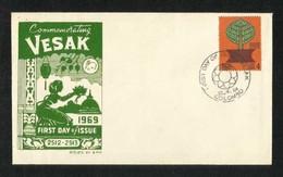 Ceylon Sri Lanka FDC 1969 Vesak  First Day Cover - Sri Lanka (Ceylon) (1948-...)