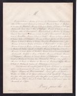PARIS  Louis Marquis De LOUVENCOURT 63 Ans 1862 Familles D'ARSCHOT De BRIOIS D'ANGRE - Décès