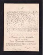 INCENDIE DU BAZAR DE LA CHARITE Lydie PANON DESBASSAYNS De RICHEMONT épouse De GOSSELLIN Paris 1897 57 Ans - Décès