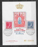 LOT 1802217 - BLOC CARITAS OBLITERE LUXEMBOURG DU 14 AVRIL 1945 - TIRAGE 50000 - Blocks & Kleinbögen