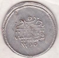Turquie . 1 ½ Piastres AH 1255 Année 5 . Abdul Meijid . Argent.  KM# 654. - Turquie
