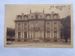 Réf: 91-19-41.              VILLIERS-SUR-MARNE   La Mairie.   ( Brunâtre ) - Villiers Sur Marne